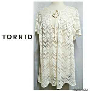 Torrid baby doll lace top